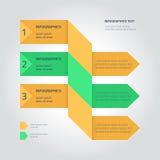 Płaski infographic szablon z strzała Zdjęcia Stock