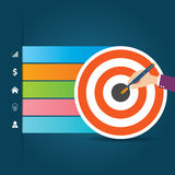 Płaski Infographics szablon i sieć elementów biznes, komputer, Marketingowy pojęcie Fotografia Royalty Free