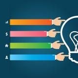 Płaski Infographics szablon i sieć elementów biznes, komputer, Marketingowy pojęcie Fotografia Stock