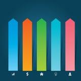 Płaski Infographics szablon i sieć elementów biznes, komputer, Marketingowy pojęcie Zdjęcie Stock