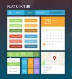 Płaski interfejsu użytkownika zestaw 1 Zdjęcie Stock