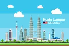 Płaski Kuala Lumpur pejzaż miejski Obraz Royalty Free