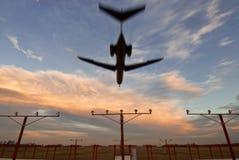 Płaski lądowanie zasięrzutny widok Obrazy Royalty Free