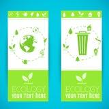 Płaski projekt ekologia, środowisko, zielony czyści Zdjęcie Royalty Free