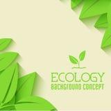 Płaski projekt ekologia, środowisko, zielony czyści Zdjęcia Royalty Free