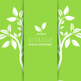 Płaski projekt ekologia, środowisko, zielony czyści Obrazy Stock