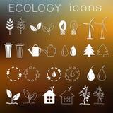 Płaski projekt ekologia, środowisko, zielony czyści Obrazy Royalty Free