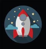 Płaski projekta pojęcie nowy biznesowy projekta rozpoczęcie z nocą s ilustracji