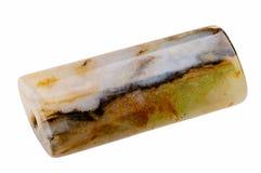 Płaski prostokątny agata koralik Zdjęcie Stock