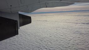Płaski silnik na niebie Zdjęcia Royalty Free