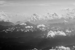 Płaski skrzydłowy śnieżny widok górski Obraz Royalty Free