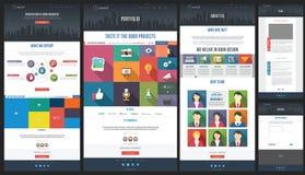 Płaski strona internetowa szablon portfolio - Abo - Homepage - Zdjęcie Stock