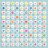 Płaski strzałkowaty ikona sześciokąta sieci guzik obraz stock