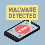 Płaski telefonu iso Malware Zdjęcia Stock
