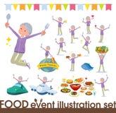 Płaski typ babci Sportswear_food festiwal ilustracji