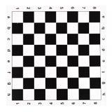 Płaski winylowy chessboard z czarny i biały czekami Fotografia Stock