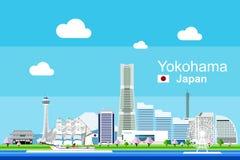 Płaski Yokohama pejzaż miejski Fotografia Royalty Free