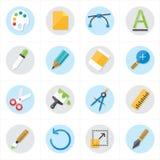 Płaskich ikon Graficznego projekta i twórczość ikon wektoru ilustracja Obraz Royalty Free