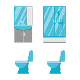 Płaskie łazienek ikony Fotografia Stock