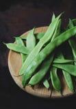 Płaskie fasolki szparagowe Fotografia Stock