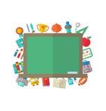Płaskie ikony Blackboard Zdjęcie Royalty Free