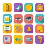Płaskie ikony dla sieć projekta ustawiają 2 Zdjęcie Stock