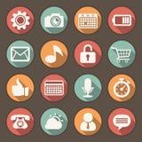 Płaskie ikony ustawiać dla sieci i wiszącej ozdoby zastosowań Fotografia Stock