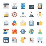 Płaskie ikony Ustawiać Kreatywnie proces Obraz Royalty Free