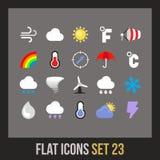 Płaskie ikony ustawiają 23 Zdjęcia Royalty Free