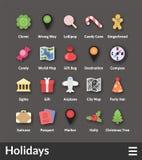 Płaskie materialne projekt ikony ustawiać royalty ilustracja
