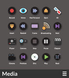 Płaskie materialne projekt ikony ustawiać ilustracja wektor