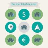 Płaskie nowożytne ikony dla interfejsu użytkownika 3 Obrazy Royalty Free