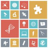 Płaskie projekt ikony dla nauki Obrazy Stock