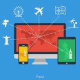 Płaskie projekt ikony - podróż Fotografia Stock