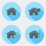 Płaskie projekta interfejsu użytkownika ikony z długim cieniem 1 ilustracji
