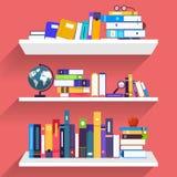 Płaskie projekta pojęcia książki Edukacja i uczenie z książki Fotografia Royalty Free