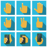 Płaskie ręki Fotografia Stock