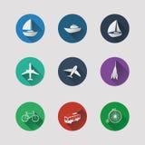 Płaskie UI ikony dla sieci i wiszącej ozdoby zastosowań ilustracja wektor