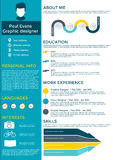 Płaskiego życiorysu infographic projekt Fotografia Stock