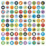 Płaskiego ikona projekta nowożytna wektorowa ilustracja Duży set sieci i technologii rozwoju ikony, zarządzanie przedsiębiorstwem royalty ilustracja