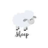 Płaskiego koloru wektorowa ikona z ślicznym zwierzęciem dla dziecko produktów - cakle Kreskówka styl Children doodle niemowlęctwo ilustracji