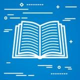 Płaskiego Kreskowej sztuki projekta wizerunku graficzny pojęcie otwarta książkowa ikona b royalty ilustracja