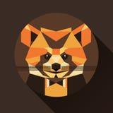 Płaskiego modnego niskiego wieloboka stylu avatar ikony zwierzęcy set sztuki światła wektoru świat Obraz Stock
