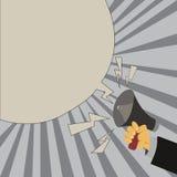 Płaskiego projekta biznesowego Wektorowego Ilustracyjnego pojęcia Pusty odbitkowy tekst dla esp sieć sztandarów promocyjnego mate ilustracji