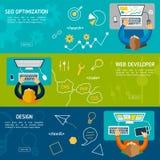 Płaskiego projekta ilustracyjny pojęcie dla cyfrowego marketingu Obrazy Stock