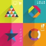 Płaskiego projekta infographic szablon dla sztandarów, biznesowi tła, presenations Zdjęcie Royalty Free