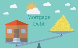 Płaskiego projekta nowożytny wektorowy ilustracyjny pojęcie dla inwestyci w nieruchomości, domowy dług ilustracji