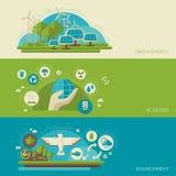 Płaskiego projekta pojęcia wektorowa ilustracja z ikonami ilustracja wektor