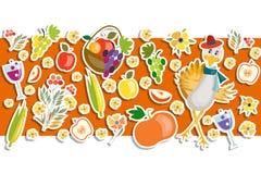 Płaskiego projekta stylu dziękczynienia dnia Szczęśliwy tło Fotografia Stock