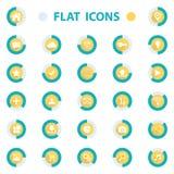 Płaskiego projekta wektorowe ilustracyjne ikony ustawiać dla sieci Zdjęcia Royalty Free